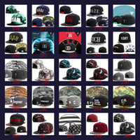 Wholesale Wholesale 59 Fifty Hats - Hot sell Classic fitted baseball 59 cap with big sticker team releated sports caps fifty on filed ball hats men hat 10pcs lots
