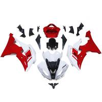 Wholesale Bodywork Yamaha R6 - White Red Full Fairings For Yamaha YZF600 R6 08 09 10 11 12 13 15 2008 2015 Sportbike ABS Motorcycle Fairing Kit Bodywork