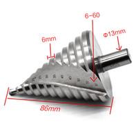флейта hss оптовых-6-60 мм HSS шаг сверло отверстие Cutter резки круглый хвостовик прямая флейта шаг дрель роторный инструмент бурения ручной инструмент