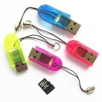 2gb карта оптовой оптовых-Оптовая крошечные брелок USB Micro SD SDHC TF кард-ридер 2 ГБ 4 ГБ 8 ГБ 16 ГБ USB 2.0 Transflash Memroy кард-ридер