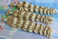 """Wholesale Blonde Hair 28 - Hot 613 Blonde Malaysian Curly Human Hair Bulk No Attachment 100% Unprocessed Deep Wave Hair Extensions in Bulk 10""""-28"""" 3pcs"""