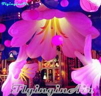 inflável flor decorações venda por atacado-Flor inflável da decoração quente de 2m para o partido e inflável exterior
