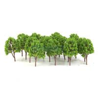 Wholesale N Scale Model Trains Layouts - Wholesale-20pcs Plastic Model Trees N Scale Train Layout Wargame Scenery Diorama 7.5cm