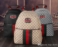 Wholesale Candy Packing Bags - Fashion G Backpack Leather Brand New Designer Classic Backpacks Capacity Luxury Cool Embroidered Bee Bags Cheap Back pack Bag High Quality