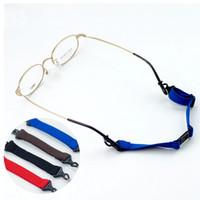 Wholesale Nylon Rope Free Shipping - 20Pcs Lot New Anti-Slip Sports Adjuatable Glasses Cords Separate Eyewear Sunglasses Ropes 4 Colors Free Shipping