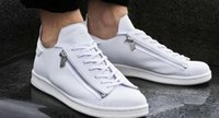 Wholesale Mens Luxury Designer Shoes - 2016 new mens Y3 Stan Smith Zip Trainers,personality Men and women sneakers,further luxury products from the designer range,Leather Shoes