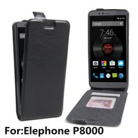 Wholesale elephone phone for sale – best Elephone P8000 Wallet phone case Lichee PU Leather and TPU defender cover protective phone shell mobilephone accessories Up down style