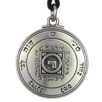 Wholesale Gold Venus - New Punk Solomon Ultimate Love Talisman Venus Pentacle Key of Solomon Seal Pendant Necklace Hermetic Enochian Kabbalah Pagan Wiccan