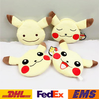 organic plush toy - Pikachu Wallets Coin Purses Mini Wallets Poke Go Plush Purse Card Package Coin Bags Cartoon Keychain Purse XMAS Toys Gifts WX W12