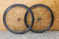 Wholesale Colnago Road Bicycle - COLNAGO 700C clincher rim Road bike matte glossy full carbon bicycle wheelset 3K 1K+spokes+hubs Fast shipping