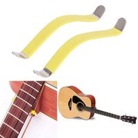 Wholesale Wholesale Guitar Frets - 2Pcs 85x10mm Guitar Bass String Spreaders For Polish Cleaning Fretboard Fret