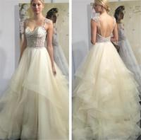 Wholesale Eve Milady Dresses - Luxury 2016 Eve of Milady Wedding Dresses Discount Beaded Crystal Sexy Back Plue Size Puffy Organza Dubai Arabic Wedding Bridal Gowns Novia