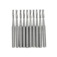 Wholesale Tungsten Steel Burs - 10pcs 19*4.5 mm Carbide Burs Cylindrical Fissure Shaped Tungsten Steel Carbide Burs