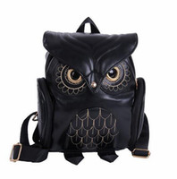 Wholesale Ship School Backpacks - 2016 Girl's Pu Leather Owl Cartoon Backpack School Cute Mini Bags ForTeenagers Girls Kids free shipping