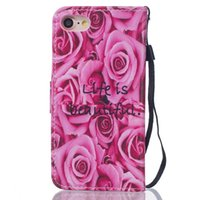 Wholesale 5c wallet cases for sale - For Iphone S Plus Iphone8 SE S C Flower Rose Wallet Leather Pouch Case Strap Card TPU Stand Cartoon Dog Don t Touch My Phone Cover