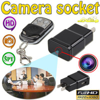 Wholesale Mini Dv Plug - 32GB 1080P HD Mini Spy AC Adapter Charger Plug Hidden Camera DVR Video Recorder with Motion Detection Mini DV Support Remote Control