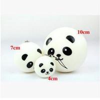 Wholesale Fashion Panda - Fashion 4cm 7cm 10cm Cute kawaii soft scented squishy jumbo panda slow rising squeeze bun toy phone charm squishies bread Toy Gift DHL