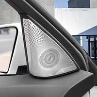 Wholesale Stainless Door Frame - Stainless Steel Car Door Stereo Speaker Frame Cover Trim For Mercedes Benz C class W204 2009-14 Audio Loudspeaker Decals
