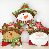 Wholesale Wholesale Supply Showcase - Christmas Theme Five-star Cushion Gift Supplies Showcase Decor Hugging Pillow Christmas Cartoon Home Decoration Festival Pillow
