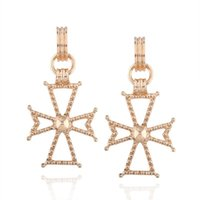 Boucles D'oreilles Élégantes Pas Cher-Hollow Big Cross Boucles d'oreilles Punk Gold Colour Cross Drop Earrings For Women Pendentif Boucles d'oreilles Elegant Jewelry Gift B859L
