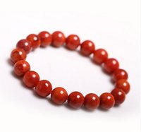 Wholesale Grain Agate - South red agate bracelet hand string daliang mountains natural red of plain authentic persimmon red flame grain rough stone