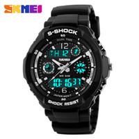 Wholesale Shock Luminous - 2016 New S Shock Men Sports Watches Skmei Quality Brand Digital Analog Alarm Military Watch Relogio Masculino Digital-Watch