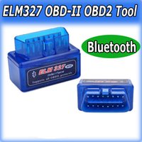Vente chaude Super Mini ELM327 Interface Bluetooth V2.1 OBD2 II outil de diagnostic automatique ELM 327 travail sur Android Couple / PC