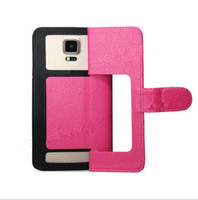 Wholesale leather case online - 360 Rotating Universal Wallet PU Flip Leather Case with Credit card slot and tpu Cover For Inch Cell Phone Mobile Phone