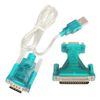 Wholesale Db25 Rs232 Cable - HL340 USB 2.0 To RS232 Com Port 9 PIN SERIAL DB25 DB9 Adapter Cable Converter