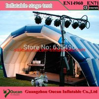 Wholesale oxford cloth Inflatable stage tent for concert inflatable oxford cloth tent for stage