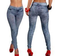 ingrosso più i jeans di sollevamento del culo di formato-Jeans a gamba dritta con strappi alla moda per donna