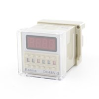 Wholesale Digital Time Delay - Digital Time Delay Repeat Cycle Relay Timer LED Display 8 Pin Panel Installed DH48S-S Series Relay Timer