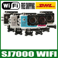 Wholesale Marine Wifi - SJ7000 Action Camera Wifi 2.0 inch LTPS LED HD 1080P Sports Waterproof DV Extreme Mini Cam Recorder Marine Diving New Cameras JBD-N3