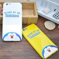 Wholesale iphone cases doraemon online - cartoon phone case for iphone iphone s plus soft TPU painting cover Doraemon cartoon protector cover case PC delivery GSZ058C