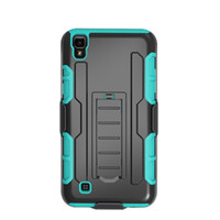 Wholesale Cheap Belts For Sale - For LG K3 LS450 K5 Q6 K8 K350 K4 VS425 Hot Sale Silicone PC Cheap Hybrid Combo Holster Case Belt Clip Kickstand Cover