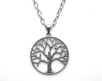 Wholesale Link Brand Fashion - Fashion Jewelry Brand New Tree of Life Pendant Necklaces 40CM Free Ship