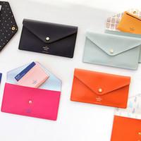 enveloppes d'expédition gratuites achat en gros de-Corée du Sud contracté type enveloppe multi-usages portefeuille 4 couleur sac à main Mini sac à main des femmes mignonnes livraison gratuite