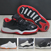 Wholesale Cheap Girls Black Leather Shoes - Cheap air retro 11 Basketball Shoes with Patent Leather Material for Outdoor Fashion Kids Athletic Shoes for Boys and Girls