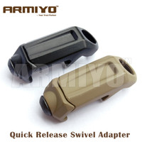 "Wholesale Rail Attachments - Armiyo 1.25"" Loop Quick Release Rail Steel Swivel Sling Buckle Attachment Mount Adapter Fit Airsoft Multi Mission Sling Hunting"