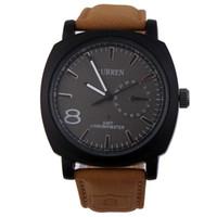 наручные часы купить оптовых-горячие новые продажи военная армия Кварцевые наручные часы CURREN мужской кожаный ремешок Спорт водонепроницаемые часы с 4 цветов на выбор