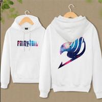 Wholesale fairy tail hoodie - Wholesale-New Anime Fairy Tail Clothing Hooded Sweatshirt Casual Unisex Hoodie cosplay Hot Sale