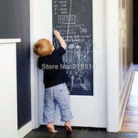 package tracking Canada - Vinyl Chalkboard Wall Stickers Removable Blackboard Decals Great Gift for Kids 45CMx200CM With 5 Free Chalks B2 order<$18no track