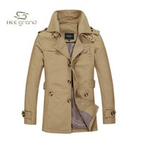 Wholesale Fall Men Casual Middle Long Style Jacket Winter New Arrival Cotton Stand Collar Big Size M XL Four Colors Jacket MWJ1206