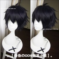 Wholesale owari seraph cosplay online - Owari no Seraph of the End Cosplay Yuichiro Hyakuya Blue Black Styled Wig