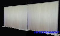 hochzeit schiere vorhänge groihandel-3x6m (10 feet x20feet) Hochzeit Hintergrund Weiß Hochzeit Vorhang Sheer Drape für Party