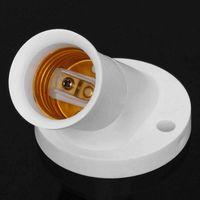 Wholesale Lamp Holder Base Wall - New Arrival E27 Oblique Screw Socket White Plastic Light Bulb Base Wall Lamp Holders Adapter Converter AC 250V 4A