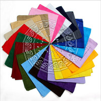 Wholesale Fast Knit Scarf - 10000pcs Top Quality National 100% Cotton Paisley Bandana Double Side Head Wrap Scarf Wristband Fast Shipping