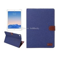 Smart Cover para iPad pro 9.7 '' de couro Jeans PU Stand Case Smart Inverter para Apple iPad pro 9.7 '' da capa do livro Tablet