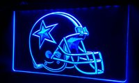 Wholesale LS414 b Dallas Cowboys Helmet Beer Bar Neon Light Sign