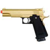 Wholesale 6mm Metal - GOLD METAL SPRING AIRSOFT M 1911 A1 FULL SIZE PISTOL HAND GUN AIR w  6mm BBs BB